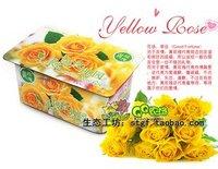Creative Gift Plant can pot flower Office Mini Fantastic DIY Home Decoration Romantic rose garden yellow rose