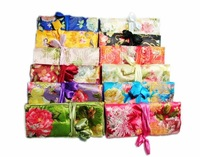 Free shipping! Lot 35 pcs New embroidery satin SILK flower JEWELRY ROLLS / bags