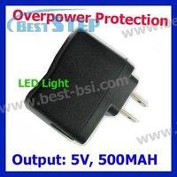 Free CN Post New Universal Wall Micro USB Charger Adapter for ipod Mp3 Mp4 PDA DV, Output 5V 500mah, EU, AU, US,UK Version