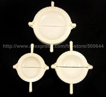 3 Sizes Chinese DIY Dumpling Maker/Jiaozi Press Device/Dumplings Mould Tool & 10Sets/Lot (3pcs/set) Free Shipping