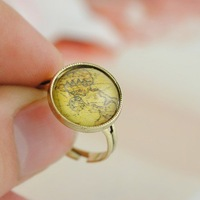R1046 South Korea adorn article new imitated landscape stone ring Free shipping