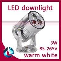 3W High Power LED Flood Spot Light Downlight Down Lamp Cool White / Warm White 85-265V free shipping