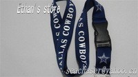 "Fast Shipping(5-9days)new style nylon football lanyards super football keychains 21.8"" length 13 teams of league+Free shipping"
