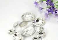 Стразы для одежды 13*18mm oval shape pointback rhinestones light amethyst color, special sew on rhinestones for making dress, clothings, bags, DIY