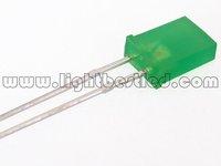 2x5x7 Rectangular type LED,Green Color, 520~535nm,Green Diffused Lens,2.9~3.3V,400~700mcd,120deg