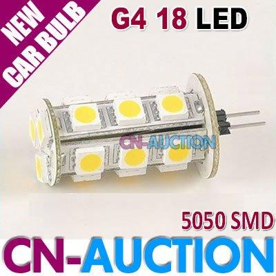 FREE SHIPPING!!! G4 Base 5050 SMD 18 LED Car Light Marine Camper Car Bulb Lamp DC12V 20pcs/lot (CN-LCL105) [Cn-Auction Lighting](China (Mainland))