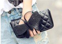 Free shipping ,Handbag 2014 spring shall bow Lingge hand shoulder bag woman bag Messenger bag ,evening bag packet