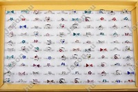 30X Fashion Cute Multicolor Children/Kids Crystal Adjustable Rings Free Shipping [KR20*30]