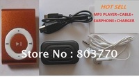 Hot sell mini MP3 player clip with TF card Slot+cable+earphone support 2GB 4GB 8GBTF card LDC001