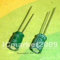 100 PCS 47uF/50V 6*12mm DIP 50V 47uF Aluminum Electrolytic Capacitor 47uF50V
