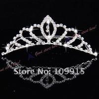 Fashion Princess Crystal Austrian Rhinestone Tiara Small Hair Comb Crown Free Shipping 0007