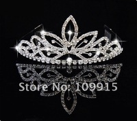 Fashion Princess Crystal Party Prom Crown Crystal Tiara Comb Crown Free Shipping LKT0041