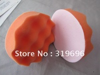"Free shipping(2pcs) 6"" car auto polishing pads, flat and wave shape polishing sponge,polishing sponge ball  wholesale& retail"