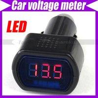 12V/24V Digital LED Auto Car TRUCK SYSTEM V Voltmeter Gauge Voltage Meter #2619