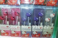 Hello Kitty Earphone 3.5mm headphone for mobile phone mp3/ mp4 Player,  Free shipping, 300pcs,Hot Sale