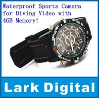 Waterproof Sports Camera for Diving Video with 4GB Memory