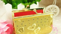 Best selling! EMS Free shipping! 40pcs/lot Golden wedding candy purse . Retail/wholesale