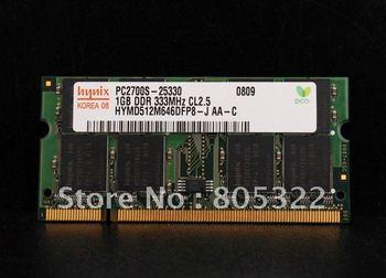 Free shipping 1GB PC2700 PC2700S-25330 DDR PC 2700 333MHZ CL2.5 RAM Speicher Memory 1 G 1 GB