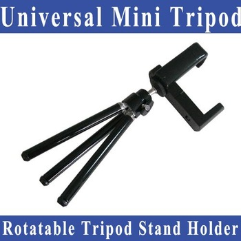 Free shipping Universal Mini mobile phone tripod 360-degree Rotatable Tripod Stand Holder for Camera /Mobile Phone