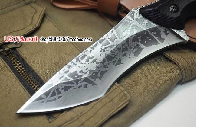 Steel Outdoor Hunting Knife Survival Pattern Knifejpg