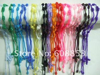 100pc Mix Religious bracelet Hand Made Knotted Rosary Bracelets Pulseras Decenarios