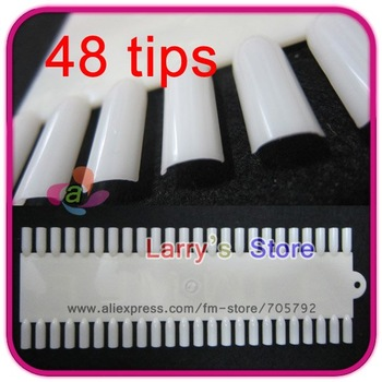 Free Shipping Nail 48 Tips Color Chart Board Insertable Display Tool Practice Art Tip Wheel Wholesale Salon Paint Acrylic Polish