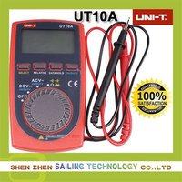 DHL EMS FreeShipping,10pcs/lot (sales promotion) UNI-T UT10A Modern Pocket-Size Digital Multimeters,Retail Wholesale