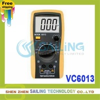 FreeShipping victor VC6013 3 1/2 Digital capacitance Meter up to 20mF 0.5% Large LCD makes the reading clearly,Retail Wholesale