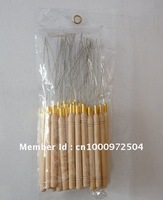 Free shipping salon hair extension tools-Loop pulling needle, wooden handle needle, 50pcs/lot.