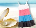 2012 New arrive girl kids summer dresses fit 4-7yrs childrens tank top dress 100%cotton 6pcs/lot D4676