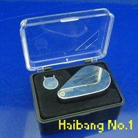 10 pcs/lot Jeweler Loupe Eye Glass Magnifier 30 X 21mm Magnifying 2-LED Light+Storage case 200027