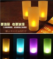 Free Shipping Voice Control 7 Colors Change Battery Operated LED Candle Light