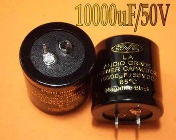 Free shipping--(10pcs/lot) 10000uF/50V Nover Audio Grade Power 85Centigrade Gold letter Capacitor