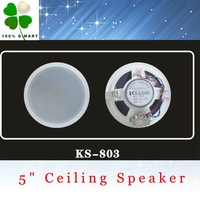 "Top Quality! 5"" Indoor Ceiling Speaker,Background music system, Round Wall White Speaker, Free Shipping! 2 pcs/lot"