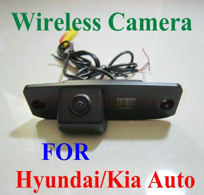 Free shipping!! WIRELESS REARVIEW CAMERA Hyundai Tucson Accent Elantra Terracan Veracruz Sonata(China (Mainland))