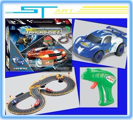 Wholesale 2pcs/lot free shipping HONGZHAN 8851A-1 Racing electric track with music and light and transformer children toys(Hong Kong)