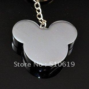 Free shipping +Free  box~10/lot~ Metal Mickey Head key chain 4GB usb 2.0 usb flash disk ,usb drive~Nice gifts option!