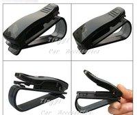 Free Shipping/New Cute Black S Model sunglasses clip / auto paper clip/Car&Auto Accessories