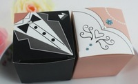 Best selling! 200 pcs/lot bride and groom box , candy box- L. EMS Free shipping! Retail/wholesale
