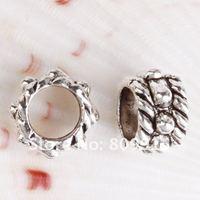 180pcs/lot Tibetan Silver Rondelles Beads Spacer 7.5x5mm CA561