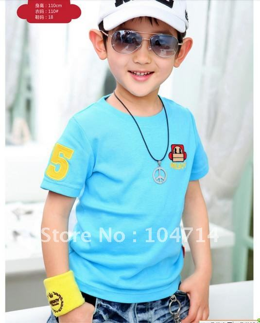 - Children-s-clothes-2012-boys-summer-wear-new-children-T-shirt-boy-short-sleeve-T-shirt