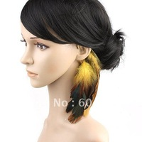 New Fashion!Vintage feather brand hanger loop earring 2 colors available free shipping wholesale/retailer F88