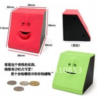 Free Shipping Face bank ,Coin Mouth Sensors ,Face bank with retail box,Gifts.mini coin Machine.(mixed random)Lc-01-184