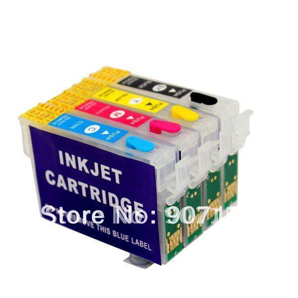 Картридж с чернилами Printer.by T1281, T1282, T1283, T1284 Epson s22/sx125/sx420w/bx305f; 10sets RIC-S22 картридж colouring cg 1282 cyan для epson s22 sx125 sx130 sx420w sx425w office bx305f bx305fw