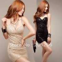 Lovely dress ~~!straight style, ladies'dress,fashion & sexy,flashing pieces decoration, ~~FREE SHIPPING