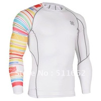 Free shipping 2012 fashion polyester sporting t shirts whole/retail FIXGEAR CPw33 Skin tight Compression Baselayer training wear