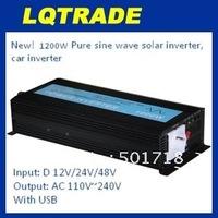 1200W Pure Sine Wave Solar Power Inverter 12V DC Input, 110V/220V AC Output, with USB Model No.: YP-1200S12