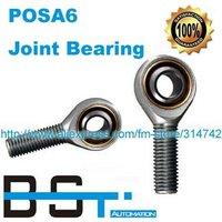 Free shipping POSA6 ( SA6T/K / SAKB6F / GAKFWR6FW ) Male Right Hand Rod End Bearing