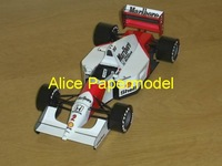 [Alice papermodel]Formula 1 F1 car  models 1992 McLaren MP 4-7 racing car sedan models