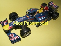 [Alice papermodel]Formula 1 F1 car  models 2010 Red Bull RB6 racing car sedan models